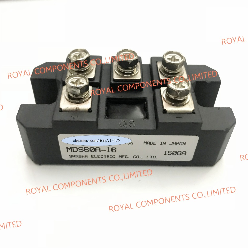 MDS60A-16   THREE PHASE BRIDGE RECTIFIER  MDS 60A 1600V MDS60A1600V