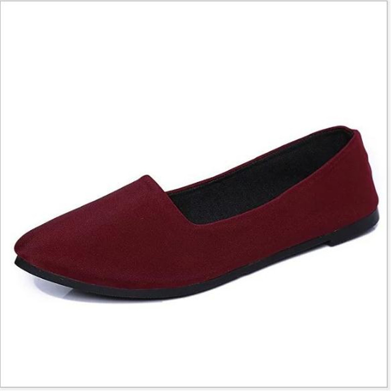With Box Ladies Shoes Ballet Flats Women Flat Shoes Woman Black Large Size  Casual Shoe Sapato Womens Loafers Zapatos Mujer drfargo spring summer ladies shoes ballet flats women flat shoes woman ballerinas pointed toe sapato womens waved edge loafer