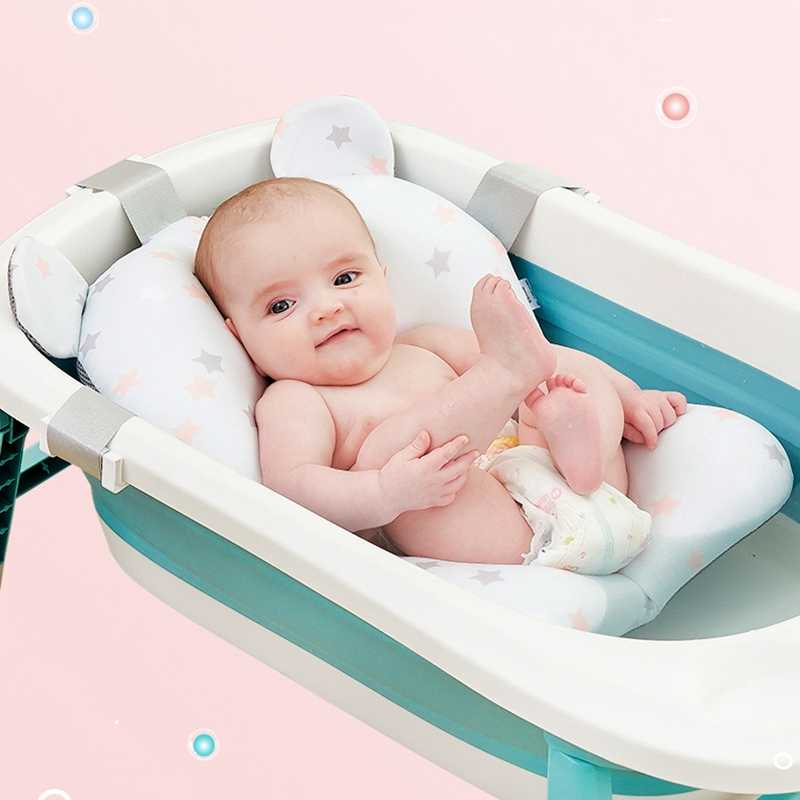 Bebek bebek banyo yastık yenidoğan küvet pedi yenidoğan duş oturağı taşınabilir güvenlik desteği Mat katlanabilir yumuşak kaymaz hızlı kurutma
