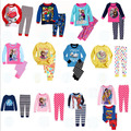 2014 New Hot sell children pajama sets boys girls clothing sets child pajama sofeness cute cartoon pajamas kids
