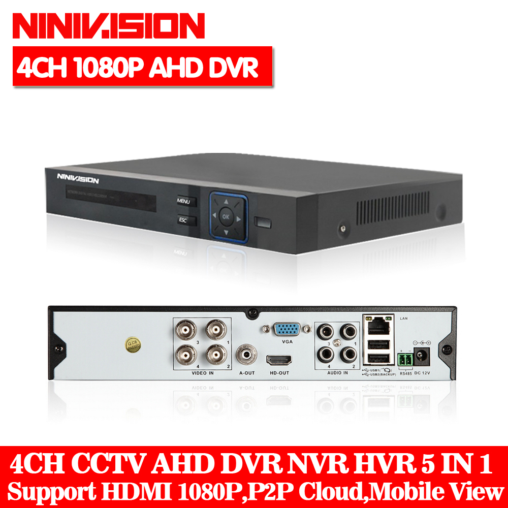 4CH AHD DVR Recorder Surveillance Video Recorder H.264 P2P Cloud 4 Channel Digital Video Recorder For CCTV AHD Camera Kit4CH AHD DVR Recorder Surveillance Video Recorder H.264 P2P Cloud 4 Channel Digital Video Recorder For CCTV AHD Camera Kit