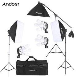 Andoer Studio Photo Video Lighting Kit 45W Bulb  /4in1 Bulb Socket /Softbo Light Stand / Cantilever Stick / Carrying Bag