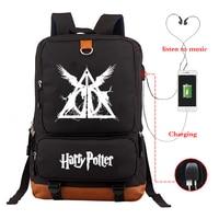 Large Capacity Bagpack Black School Bags Luminous Backpack Harri Potter Backpacks Laptop Bag College Backpack USB Charging Bag
