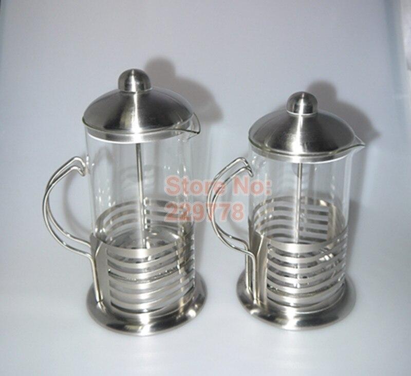 High End French Press Coffee Maker : High quality 800ml 1000ml French presses pot coffee pot/tea pot stainless steel elegant ...