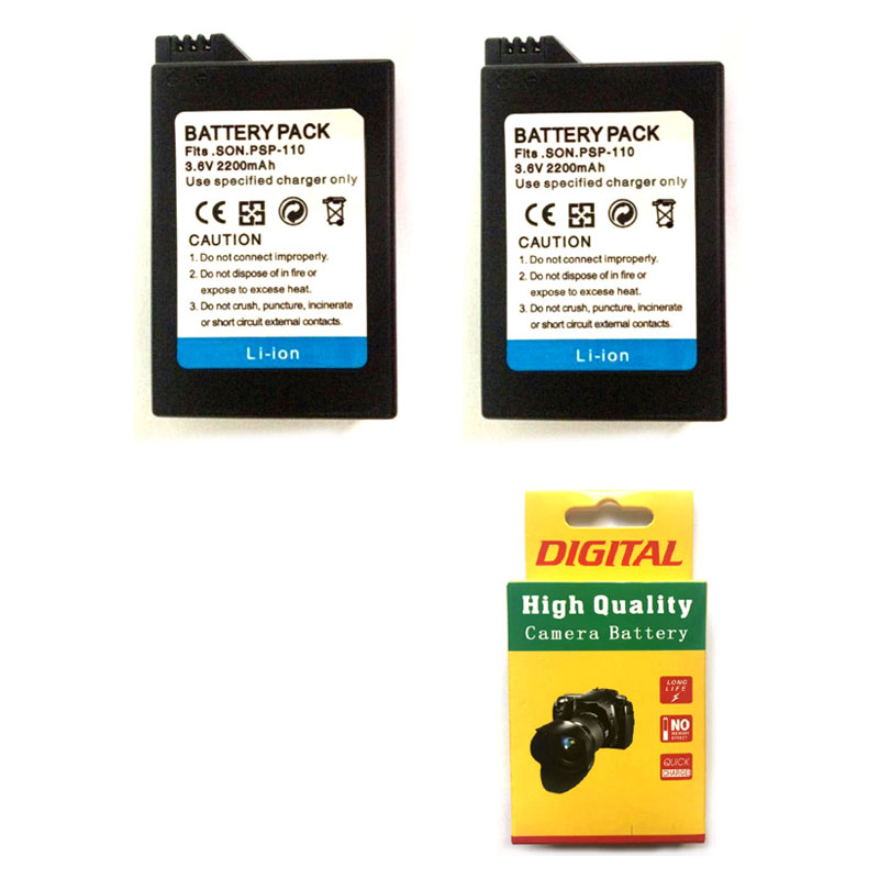 2PCS 3.6V 2200mAh PSP-110 PSP110 Camera Battery Replacement For Sony Playstation PSP-110 PSP-1001 PSP 1000 1004 Game Machine image