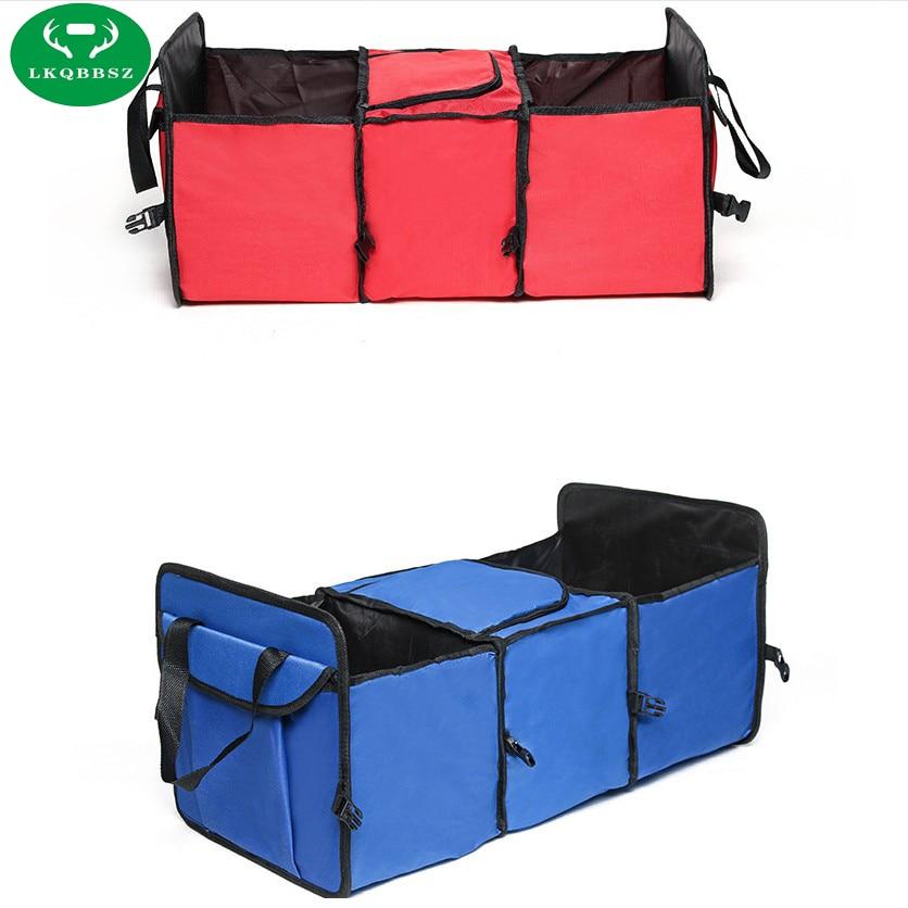 Car Trunk Storage Case Oxford Cloth Folding Truck Storage box Car Trunk Tidy Bag Organizer Storage Box with Cooler Bag