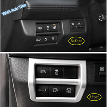Lapetus Car Styling Head Lights Lamp Switch Button Frame Cover Trim ABS Fit For Toyota Avalon 2019 2020 Matt / Carbon Fiber Look dwcx abs carbon fiber style front seat heating switch button cover trim frame panel car styling fit for toyota rav4 2019 2020
