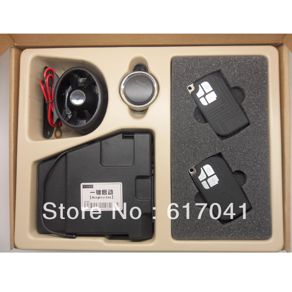 RFID technology Anti-theft PKE Passive keyless entry car security alarm system with remote start PGN-003B