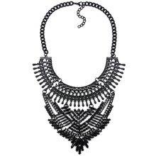 2016 mujeres de la manera pistola negro declaración choker collar collares colgante collar femenino maxi boho joyería de la vendimia del collar fornido