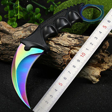 Jeslon CSGO Karambit Claw Knife Hunting Knives Camping Survival Tactical CS GO Knife Stainless Steel Scorpion Outdoor Knife Tool