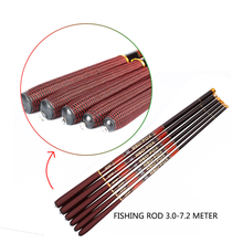 Goture Carp Fishing Rod Carbon Feeder Rods Telescopic Fishing Pole 3.0m 3.6m 4.5m 5.6m 6.3m 7.2m with Top 3 Spare Tips