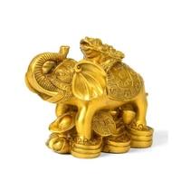 Feng Shui Gold Money Frog On Elephant Figurine Wealth Figurine Gift & Home Decor
