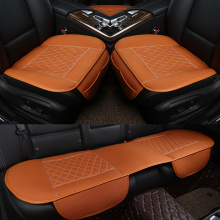 3Pcs/Set  Flax Car Seat Cover Pad for most cars Universal Front Back Auto Covers Black Automobiles Cushion