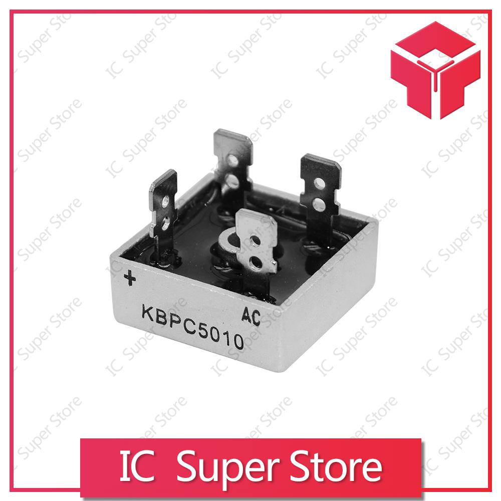 2PCS KBPC5010 5010 50A 1000V Phases Diode Bridge Rectifier New Original Rectifier Diode KBPC 5010 Power Electronica Componentes