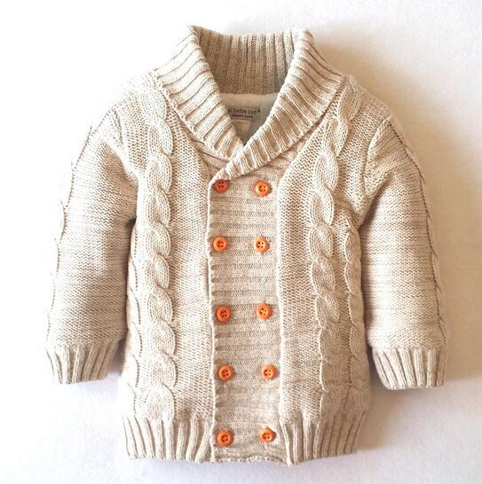Boys Cardigan Knitting Pattern Spring Thick Warm Velvet Sweater For