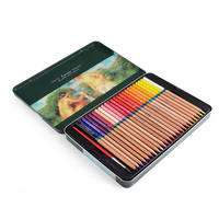 Marco Renoir Fine Art Professional Oily Colored Painting Pencil With Metal Box 48 Colors