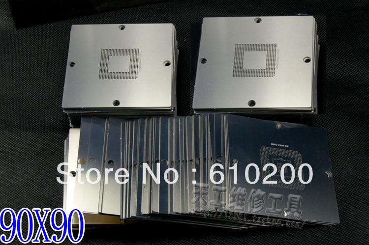 NEW BGA 241/pcs 90*90 BGA stencils templates Notebook and desktop Substitute 230/PCS bga reballing stencil 90x90