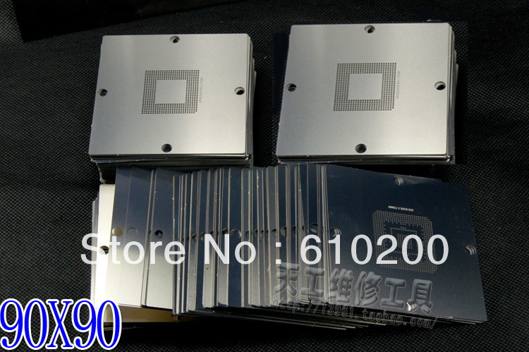 NEW BGA 241/pcs 90*90 BGA stencils templates Notebook and desktop Substitute 230/PCS bga reballing stencil 90x90 ep3c55f484c6n fpga 484 bga new