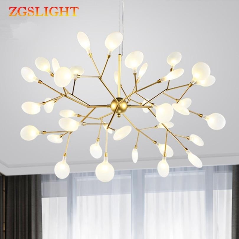 Heracleum Tree Branch Chandelier Living Room Bedroom Kitchen Dining Room Lustre Salon Lighting Art Decor Indoor Pendant Lamp