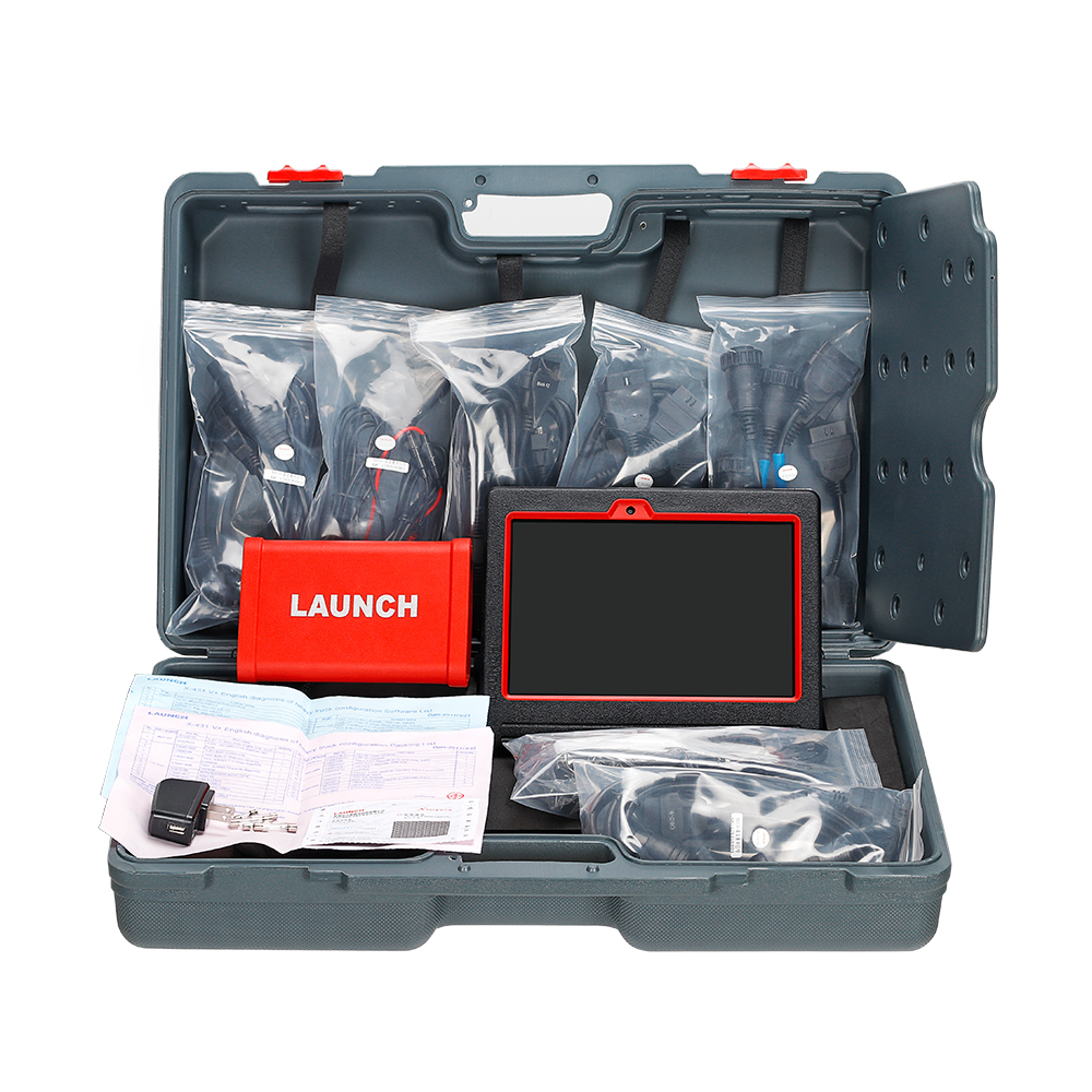 Launch X431 V+ tablet & Heavy duty adapter box (6)