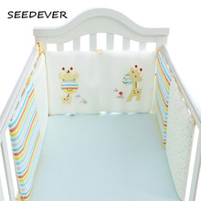 SEEDEVER Baby Bed Bumper Baby Bed Protector Crib Bumper in the Crib Cot Bumper Newborns Toddler Bed Bedding Set giraffe EY0013A(China)