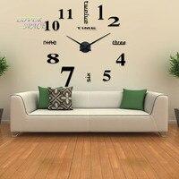 L'europe Simple Idées NOUVEAU Quartz Énorme Horloge Murale Moderne Décoration de La Maison DIY Acrylique Miroir Wall Sticker Pour Salon 100X100 CM