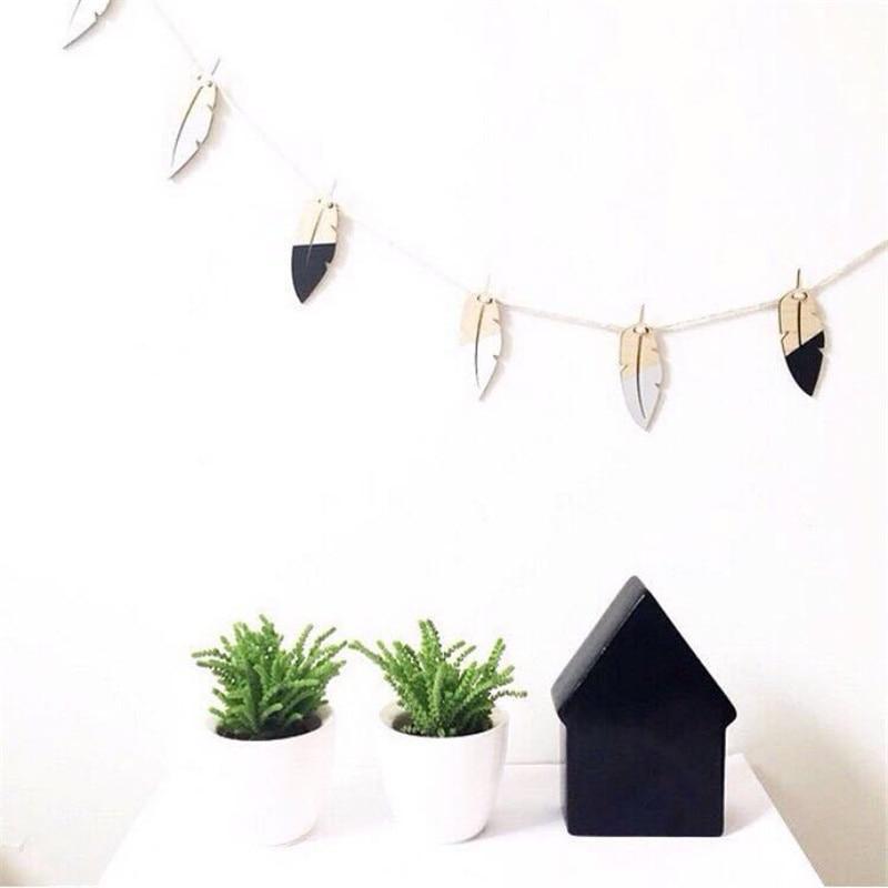 Nordischen Stil Holz Feder Hängende Vorhänge Wanddekorationen