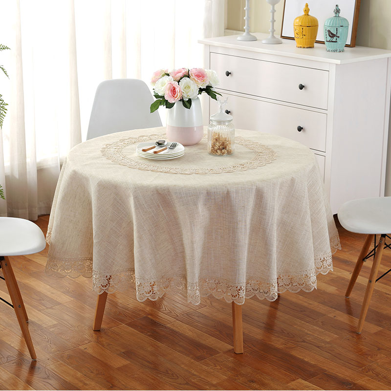 Beau Proud Rose Modern Linen Fabric Round Tablecloth Table Runner Household Lace  Tea Table Cloth Fashion Dustproof Cloth Table Cover In Tablecloths From  Home ...