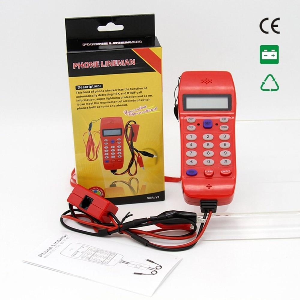 NF-866 Cavo della Linea Telefonica Tester con Display Dello Schermo Tele Fibra Ottica Strumento di Controllo DTMF Caller ID Rilevamento Automatico di Ricerca Della Macchina