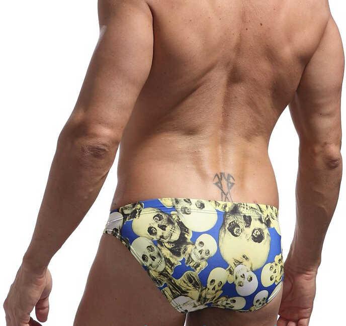 f0698880a7 ... 1pcs New Mens Swimwear Swimsuirts Sexy Boxer Swim Trunks Slim Low Waist  Male Swimming Trunks Personalized ...