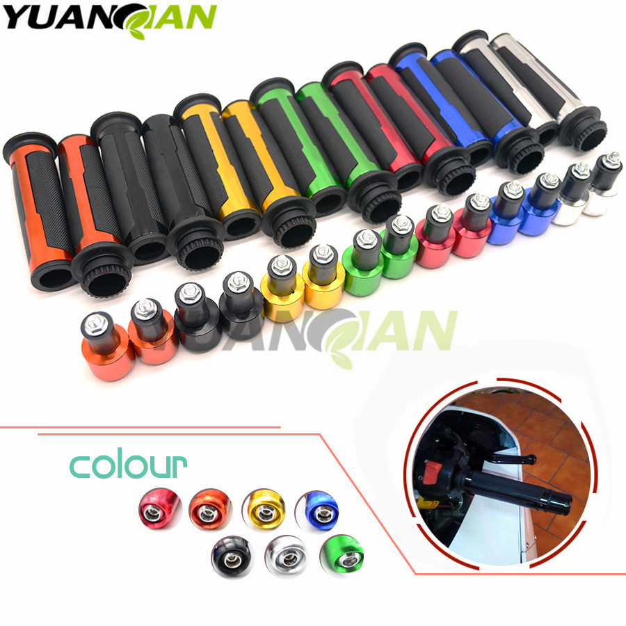 22mm Street & Racing Moto Grips With End CNC 7/8'' Motorcycle Handle For HONDA Hornet 900 600 CBR 600 RR CB 1000 R KTM