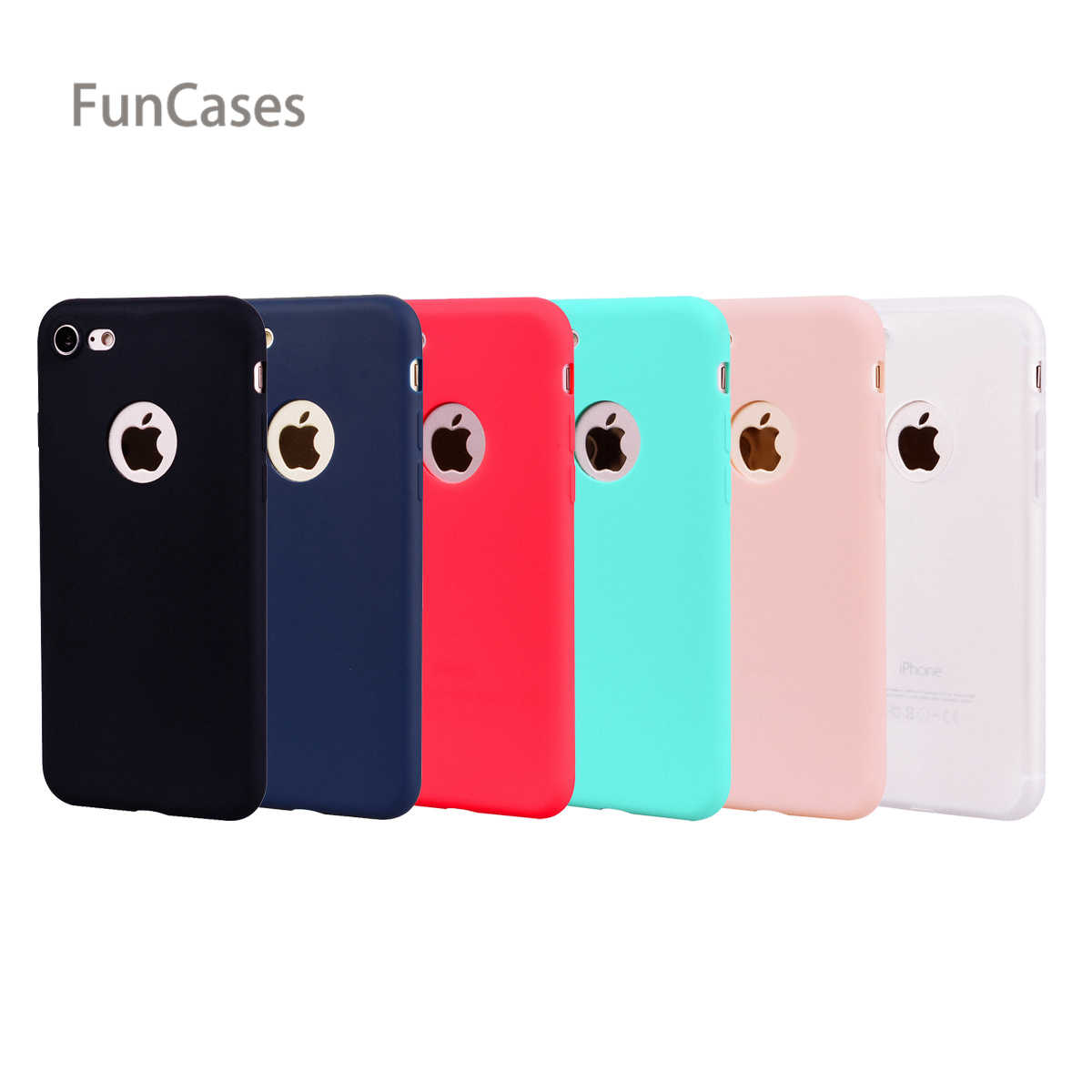 Trường Hợp đơn giản sFor Hoesjes iPhone 7 Mềm Silicone Cover Quay Lại Di Động Patterned Telefon Aksesuar Trường Hợp sFor iPhone 8 Skal Quente