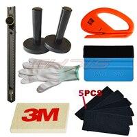 3M Blue Felt Edge Decals Sticker Vinyl Sheet Squeegee Car Wrap Applicator Tools Vinyl Squeegee Kits