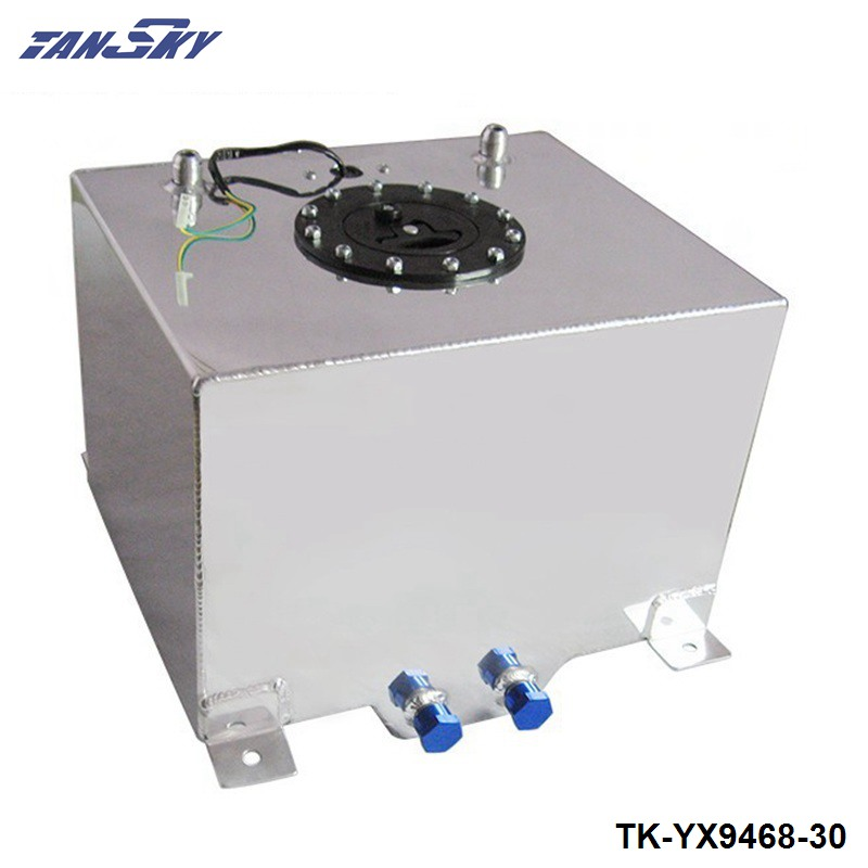 8 GALLON 30LSLIVER COATED ALUMINUM RACING DRIFTING FUEL CELL GAS TANK LEVEL SENDER TK YX9468 30