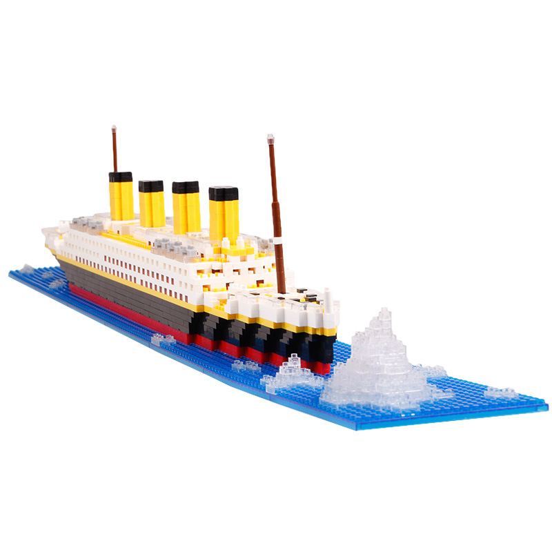 66503 1860PCS Model city Titanic RMS ship 3D Educational compatible with 05033 Diamond Building Blocks Bricks Toys pzx diamond blocks technic bricks building blocks toy vehicle rms titanic ship steam boat model toys for children micro creator