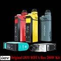100% original ijoy rdta caixa de 200 w com 12.8 ml tanque ijoy IMC Intercambiáveis sistema de construção de deck com Tela OLED E-Cig Vape Mod