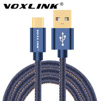 VOXLINK USB 3.1 Type C Cable USB C Cowboy Data Charger Cable For Samsung Note 7 Lumia 950/950XL Huawei P9/Mate 9 HTC 10 LG G5