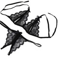 2017 Bra + G-string Thongs Pantie Set Sexy Bra Sets Ultrathin Sexy Lace Underwear Sets Women Lace Brassiere Lingerie Set De232