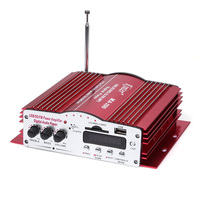 Kinter MA-200 HiFi Audio Verstärker 4CH 4-kanal MP3 USB/FM/SD/DVD Stereo AMP für Auto Motorrad Heimgebrauch mit Fernbedienung