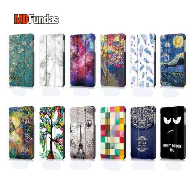 MDFUNDAS Colorful Painted Leather Cover For Samsung Galaxy Tab A 8.0 2017 T380 T385 Flip Case For Samsung Tab A 8.0 2017 +Film планшеты samsung tab