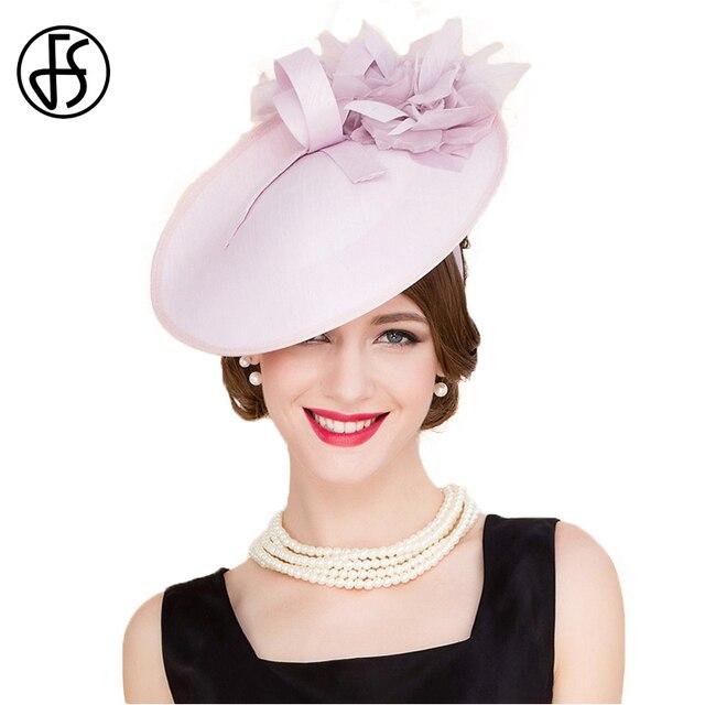 FS Inglaterra Estilo Rosa Casamata Chapéus Fedora Flor Para O Casamento Das  Senhoras Das Mulheres Elegante 4925d54173d