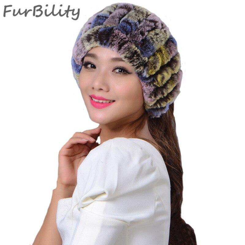 High Quality Womens Knitted Rex Rabbit Fur Headbands Kids Rex Rabbit Fur  Soft Wraps Kids Winter Warm Real Fur Neckerchief Scarf 58d4f218695