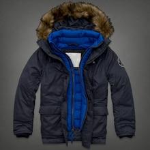 2016 mode Männer Daunenmantel Warme Starke Jacke Männliche Beiläufige mit kapuze Mantel herren Parka Outwear Weiße Entendaunen Kapuzenmantel A01