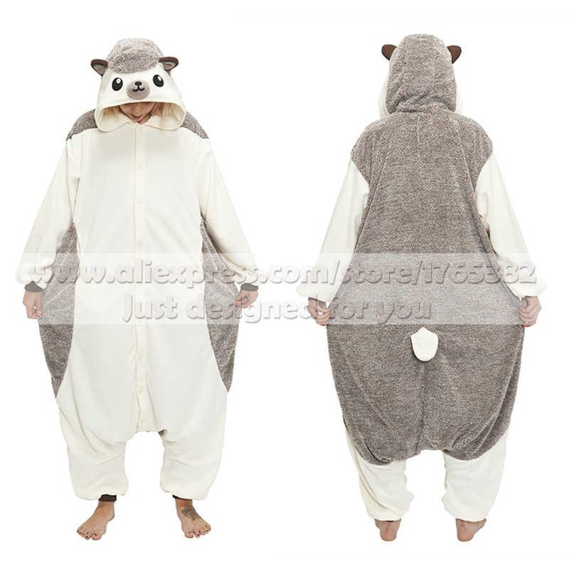 Взрослых унисекс Пижама «Ежик» Комбинезоны Пижама животных костюмы косплэй  мультфильм пижамы одна деталь для d377f192f3de9