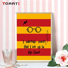 I Solemnly Swear IM Up To No Good Classic Film Movie Wall Pop Art Poster Canvas House Painting Prints Home Decor For Kids Room