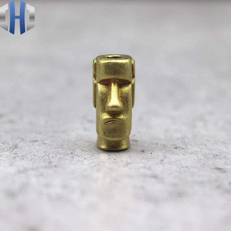 Brass Knife Copper Keychain Pendant Easter Island Stone Catcher Umbrella Pendant Knife Beads