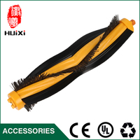 Yellow Bristle Flexible Beater Brush Replacement Robotic Vacuum Cleaner For Home Clean