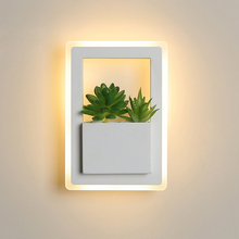 Nordic plant wall lights Creative bedside bedroom 11W sconce living room simple modern aisle acrylic modern Indoor LED wall lamp цены онлайн