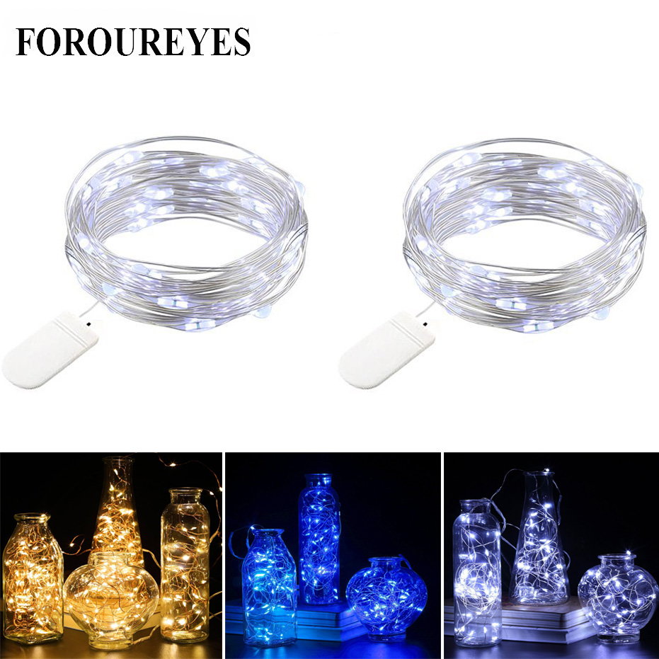 garland <font><b>LED</b></font> <font><b>strip</b></font> <font><b>Battery</b></font> <font><b>Operated</b></font> string lights 2M 20Leds Party Christmas Holiday Decoration lamparas lamp image