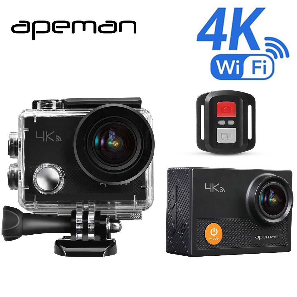 Apeman Action Camera A77 4k 1080p Waterproof Action Cam pro Wifi Sport Helmet Video Camera With hd Camcorder Remote Control 1080p eken h9 ultra hd 4k wifi 2 0 inch action sport camera video camcorder